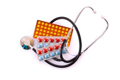 Tablets and stethoscope Royalty Free Stock Photo