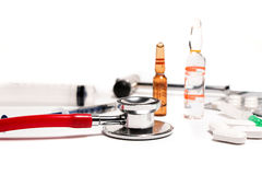 Tablets and a syringe Royalty Free Stock Photography