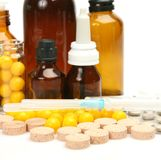 Tablets for treatment Royalty Free Stock Photos