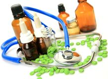Tablets for treatment of illness Stock Photo