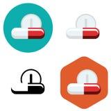 Tablets und Pillenikone Lizenzfreie Stockfotos