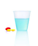 Tablets and   water Royalty Free Stock Image