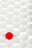 Tablets in white and red Stock Photography