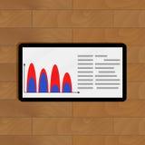 Tablette avec des renseignements commerciaux Photographie stock libre de droits