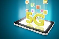 Tablette avec 5G Photographie stock libre de droits