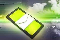 Tablette avec l'email Photographie stock libre de droits