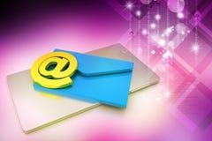Tablette avec l'email Image stock