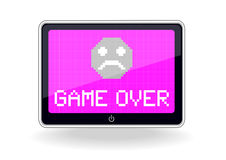 Tablette avec le jeu au-dessus de l'icône Image stock