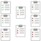 Tablette avec le papier avec le remplissage différent de forme Image libre de droits