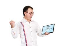 Tablette avec le plan de seo Photo libre de droits