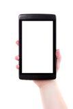 Tablette blanc d'écran tactile de Digitals photographie stock