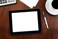 Tablette blanc de PC avec le chemin de découpage Photographie stock