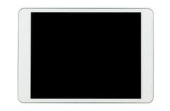Tablette blanche d'isolement sur le fond blanc Photographie stock