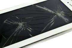 Tablette cassée photo libre de droits