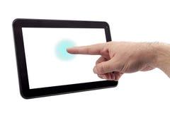 Tablette d'écran tactile - image courante Image libre de droits