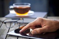 Tablette d'ordinateur de main de technologie Images stock