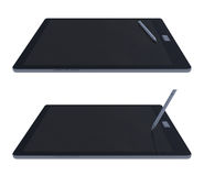Tablette 3d und Stift Lizenzfreie Stockbilder