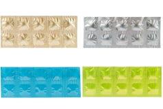 Tablette dans le modèle en aluminium de paquet de bande Image stock
