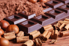 Tablette de chocolat Image stock