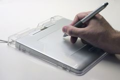 Tablette de crayon lecteur Image libre de droits