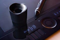 Tablette de crayon lecteur Photo libre de droits