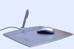 tablette de crayon lecteur images stock