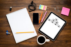 Tablette de Digital avec l'écran dessus Photos stock