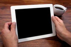 Tablette de Digitals avec l'écran blanc Images stock