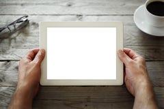 Tablette de Digitals avec l'écran blanc photos libres de droits