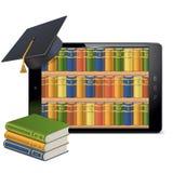 Tablette de vecteur avec la bibliothèque Image stock