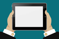 Tablette in den Händen Lizenzfreie Stockbilder