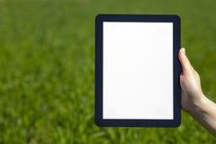 Tablette in der Hand Lizenzfreie Stockfotografie