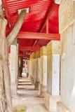 Tablette en pierre à l'intérieur du temple de Confucius chez Pékin-le deuxième l Photos libres de droits