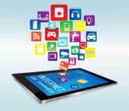 Tablette et Internet des choses Apps Images libres de droits