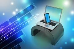 Tablette et ordinateur portable de Digital Photographie stock