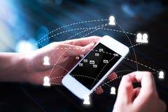 Tablette et téléphone avec le stylo Images libres de droits