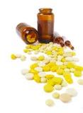 Tablette getrennt auf Weiß Stockfoto