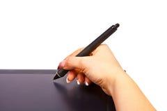 Tablette graphique格式A4 免版税库存照片