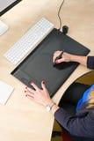 Tablette graphique Photo stock