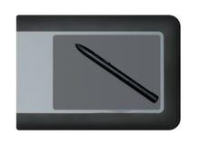Tablette graphique avec le crayon lecteur Images stock