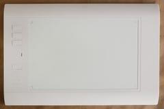 Tablette graphique blanche de stylo image libre de droits