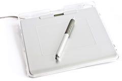 tablette graphique de crayon lecteur Photographie stock