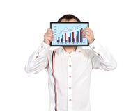 Tablette mit Geschäftsdiagramm Lizenzfreie Stockfotografie