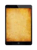 Tablette noire avec le mur grunge Photos libres de droits