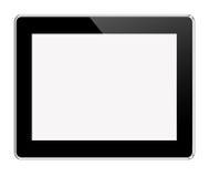 Tablette noire sur le blanc Image stock