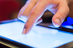 Tablette-PC émouvant Image libre de droits