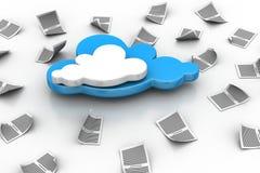 Tablette PC auf blauem Himmel Lizenzfreie Stockbilder