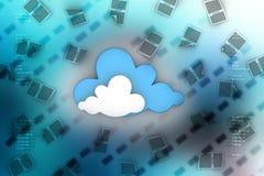 Tablette PC auf blauem Himmel Stockbilder