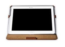 Tablette-PC auf weißem Hintergrund Lizenzfreie Stockfotos