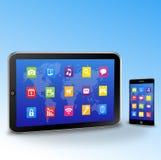 Tablette PC und Bildschirm- smartphone Lizenzfreies Stockbild